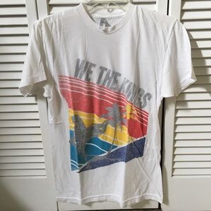 We The Kings palm trees and surfer concert shirt